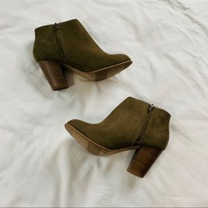 Old Navy || EUC || Green Ankle Boots || Size 7